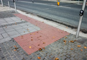 Accessibility in the built environment, a pedestrian crossing