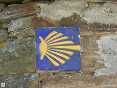 Camino de Santiago marker, image via Fresco Tours, Flickr