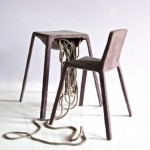 Chair and table set which appear to spill intestines
