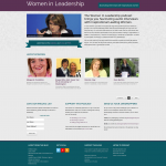 Women in Leadership Podcast homepage