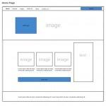 Initial wireframe for site layout