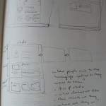 Sketchy ideas for homepage